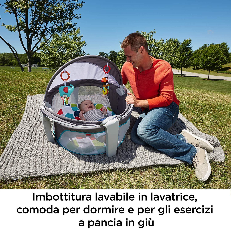 Lettino portatile - Fisher Price - Fisher-Price- Baby Gear Mini Lettino Go, Box per Neonati